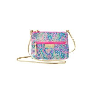 Lilly Pulitzer Zip It ID Crossbody Pink Sunset